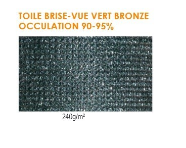 Toile Brise Vue Verte (240 g/ml)